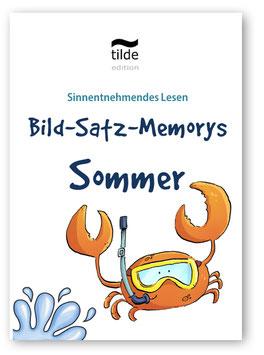 Sommer: Bild-Satz-Memorys
