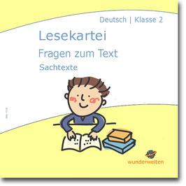Lesekartei (2) - Fragen zum Text - sinnentnehmendes Lesen