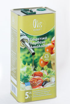 Olis Extra Virgin Olive Oil P.G.I. 5lt with low acidity