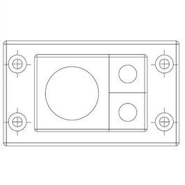 FRAME for adaption of 2  inserts small & 1 insert large