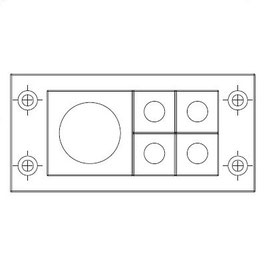 FRAME for adaption of 4 inserts small and 1 insert large