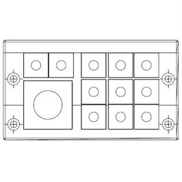 FRAME for adaption of 11 inserts small and 1 insert large