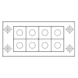 FRAME for adaption of 8 inserts small