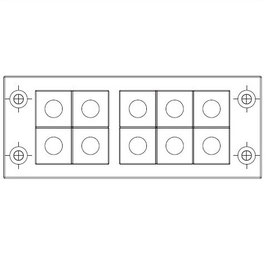FRAME for adaption of 10 inserts large
