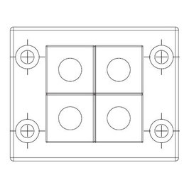 FRAME for adaption of 4  inserts small