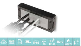 DES 24 Deelbaar frame voor verschillende,  vrij configureerbare indelingen. IP66