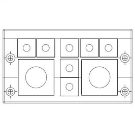 FRAME for adaption of 7 inserts small and 2 insert large