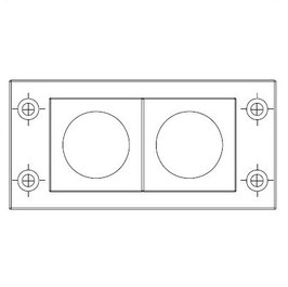 FRAME for adaption of 2 inserts large