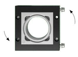 DES 380M Deelbaar frame voor grote diameters,  vrij configureerbaar. IP54
