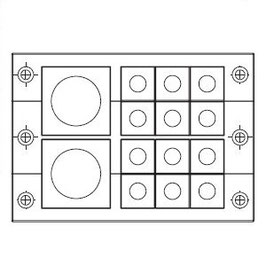 FRAME for adaption of 12 inserts small and 2 insert large