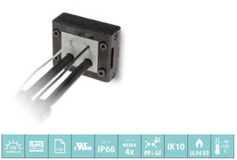 DES Q Deelbaar frame voor verschillende,  vrij configureerbare indelingen. IP66