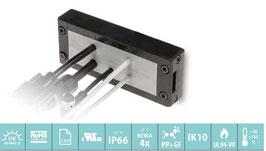 DES 24M Deelbaar frame voor verschillende,  vrij configureerbare indelingen. IP54