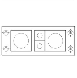 FRAME for adaption of 2 inserts small and 2 insters large