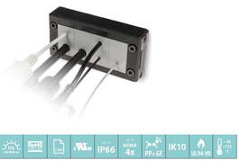 DES 16 Deelbaar frame voor verschillende,  vrij configureerbare indelingen. IP66