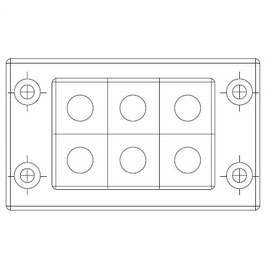 FRAME for adaption of 6  inserts small