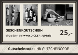 10 % Rabatt: 25,- EUR Gutschein für nur 22,50 EUR