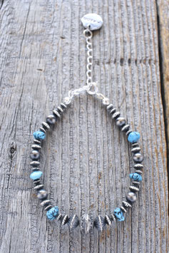 Silver & Turquoise Bracelet