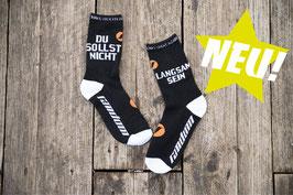"""""""DU SOLLST NICHT LANGSAM SEIN"""" Socks"""