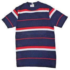 Pullover Kinder VINTAGE 1970s Navy gestreift NEU 10 J