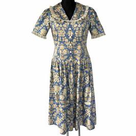 Kleid Sommerkleid Gr. M/L romantisch Baumwolle Princess Shape VINTAGE 1980s