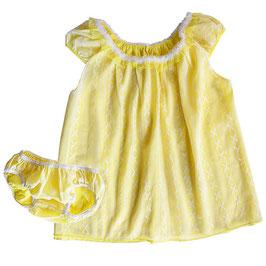 Babydoll Gr. XS/S Nylon VINTAGE 1950s hellgelb