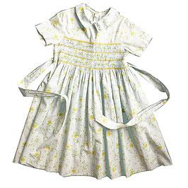 Mädchenkleid gesmokt 80s 6-7 Jahre oviesse