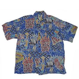 Hemd Herren Hawaiihemd Kahala VINTAGE Barbecue Gr. L