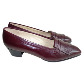 Trotteurs bordeaux Made in Italy VINTAGE Gr. 39