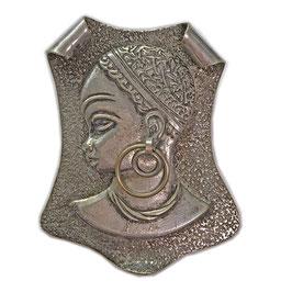 Anhänger/Brosche Africa Metall VINTAGE 1940s