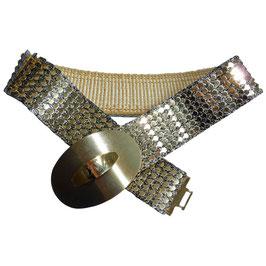 Gürtel elastisch Gold- und Silberschuppen 70s