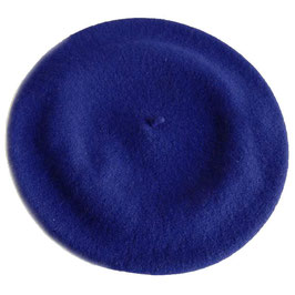 Berêt VINTAGE dunkelblau Wolle Wollfilz