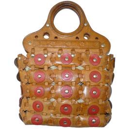 Tasche rustikal mit Lederpatches VINTAGE 1970s