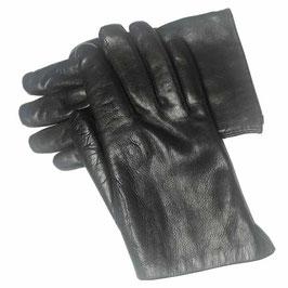 Handschuhe Damen Herren Gr. 8 schwarz mit Fellfutter VINTAGE 1950s