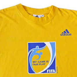 T-Shirt Gr. S FIFA adidas gelb My Game is Fairplay