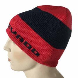 Mütze Skimütze weiss-rot VALLE NEVADO Vintage 1980s