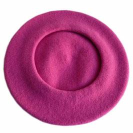 Berêt VINTAGE pink magenta Wolle Wollfilz