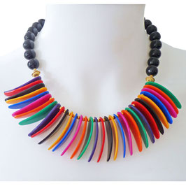 Halskette bunt Plastic VINTAGE ca. 1960s