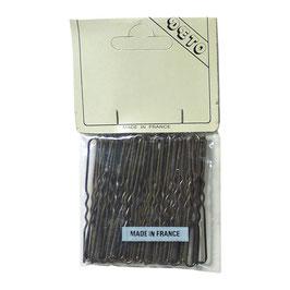 Haarnadeln VINTAGE 1970s hellbraun gewellt 5, 6 oder 7 cm lang