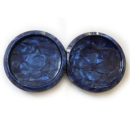 Gürtelschnalle Bakelit VINTAGE 30s blau rund