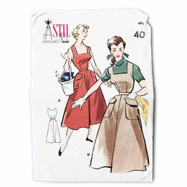 Schnittmuster STIL Trägerkleid eckiger Ausschnitt und Taschen 1950s Gr. S/M