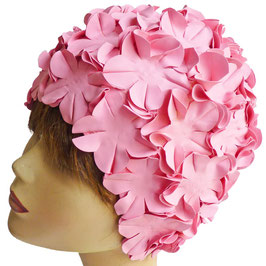 Badekappe/Badehaube Blüten rosa pink