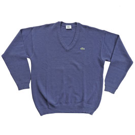 Pullover Gr. M/L Herren LACOSTE 1980s VINTAGE blau