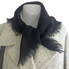 Tuch Wolle schwarz mit Fransen VINTAGE 1940s