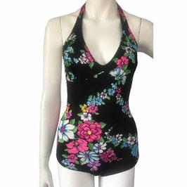 Badeanzug Gr. S Badekleid VINTAGE 70s Badeanzug geblumt