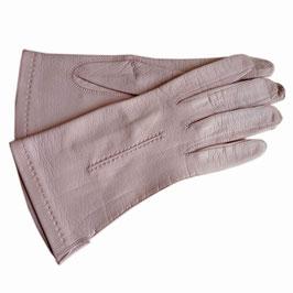 Handschuhe Gr. S Leder hell zartrosa VINTAGE 1960s ungefüttert