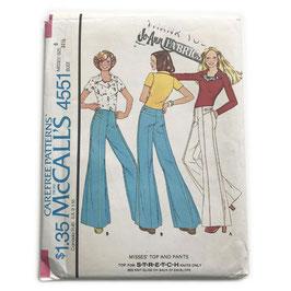 Schnittmuster McCalls Hose Schlaghose mit Jerseytop Vintage 1970s Gr. XXS