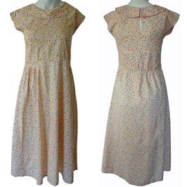 Kleid Gr. S Baumwolle Millefleur VINTAGE 1930s