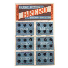 Druckknöpfe schwarz  7 mm BRERO Originalkarte  - VINTAGE 1940s