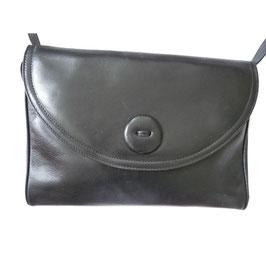 Umhängetasche schwarz Leder 60s