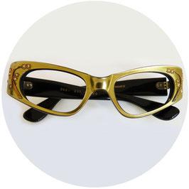 Brillenfassung Damen VINTAGE 1960s oliv SWANK Made in France NOS
